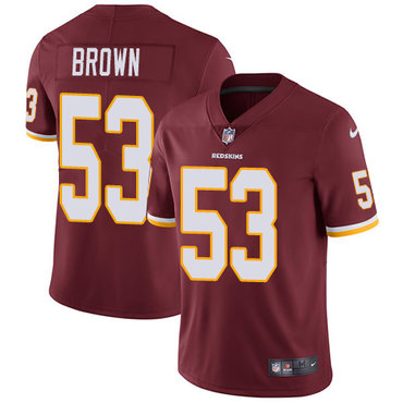 Nike Redskins #53 Zach Brown Burgundy Red Team Color Men\'s Stitched NFL Vapor Untouchable Limited Jersey