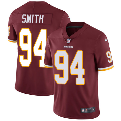 Nike Redskins #94 Preston Smith Burgundy Red Team Color Men\'s Stitched NFL Vapor Untouchable Limited Jersey