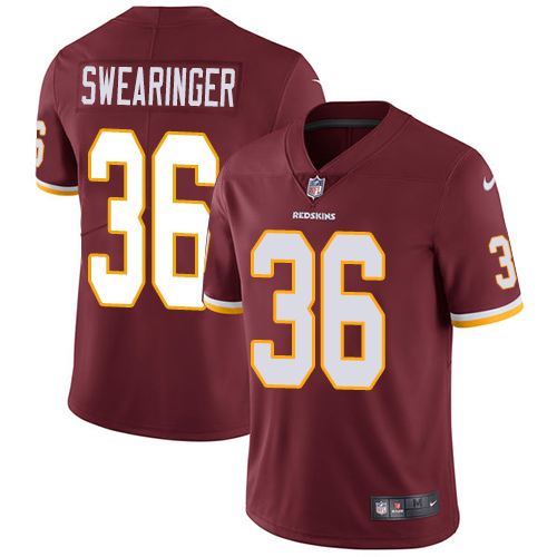 Nike Redskins #36 D.J. Swearinger Burgundy Red Team Color Men\'s Stitched NFL Vapor Untouchable Limited Jersey