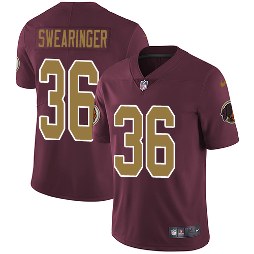 Nike Redskins #36 D.J. Swearinger Burgundy Red Alternate Men\'s Stitched NFL Vapor Untouchable Limited Jersey