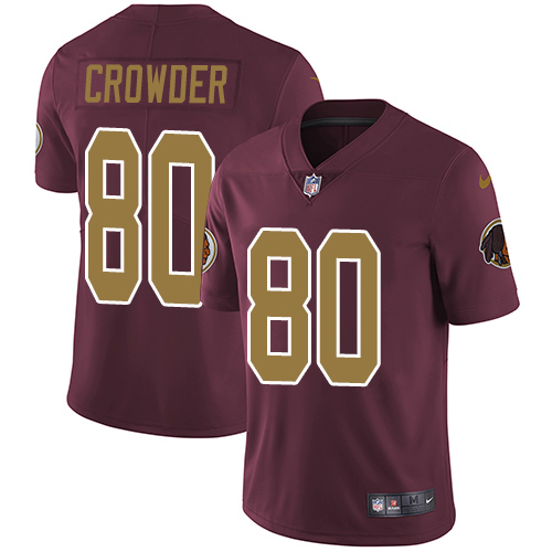 Nike Redskins #80 Jamison Crowder Burgundy Red Alternate Men\'s Stitched NFL Vapor Untouchable Limited Jersey