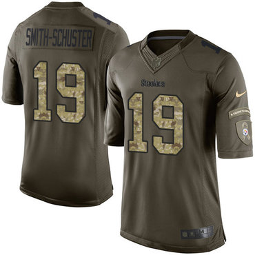 Nike Steelers #19 JuJu Smith-Schuster Green Men's Stitched NFL Limited 2015 Salute to Service Jersey