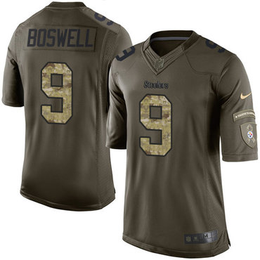 Nike Steelers #9 Chris Boswell Green Men's Stitched NFL Limited 2015 Salute to Service Jersey