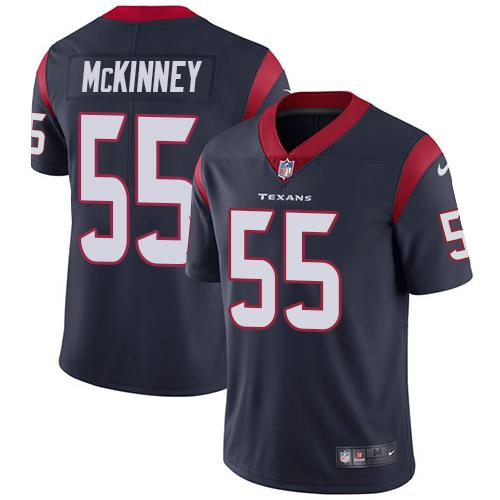 Nike Texans #55 Benardrick McKinney Navy Blue Team Color Men's Stitched NFL Vapor Untouchable Limited Jersey