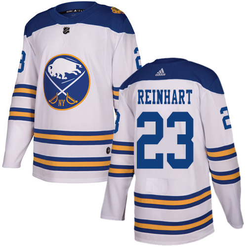 Adidas Sabres #23 Sam Reinhart White Authentic 2018 Winter Classic Stitched NHL Jersey
