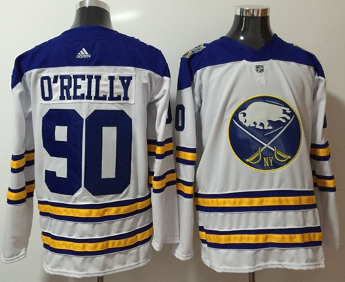Adidas Sabres #90 Ryan O'Reilly White Road Authentic Stitched NHL Jersey
