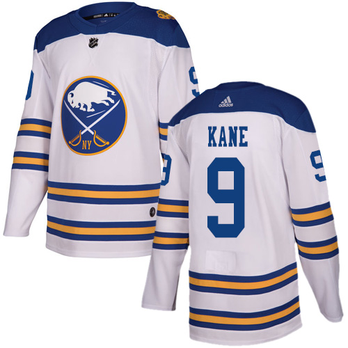 Adidas Sabres #9 Evander Kane White Authentic 2018 Winter Classic Stitched NHL Jersey