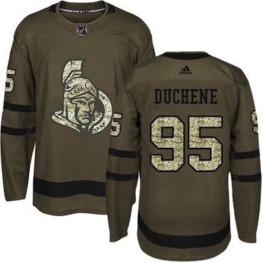 Adidas Senators #95 Matt Duchene Green Salute to Service Stitched NHL Jersey