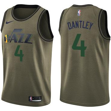 Nike Jazz #4 Adrian Dantley Green Salute to Service NBA Swingman Jersey