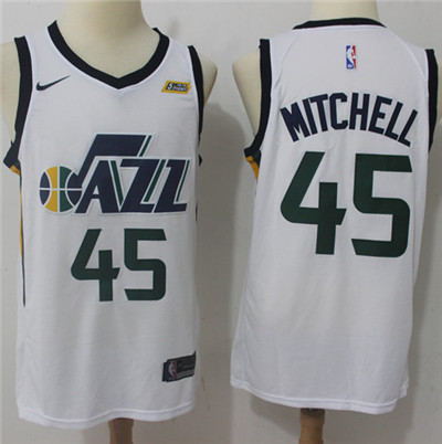 Nike Jazz #45 Donovan Mitchell White NBA Swingman Association Edition Jersey