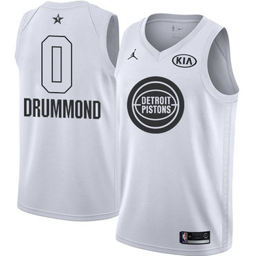 Nike Pistons #0 Andre Drummond White NBA Jordan Swingman 2018 All-Star Game Jersey