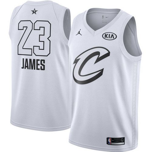 uk availability eb57e eb6cf Nike Cavaliers #23 LeBron James White NBA Jordan Swingman ...
