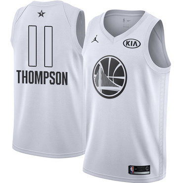 Nike Warriors #11 Klay Thompson White NBA Jordan Swingman 2018 All-Star Game Jersey