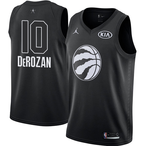 Nike Raptors #10 DeMar DeRozan Black NBA Jordan Swingman 2018 All-Star Game Jersey