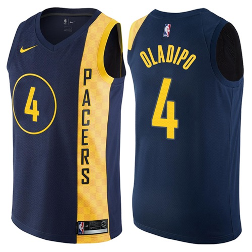 7bad331ec9a Nike Indiana Pacers #4 Victor Oladipo Navy Blue NBA Swingman City Edition  Jersey