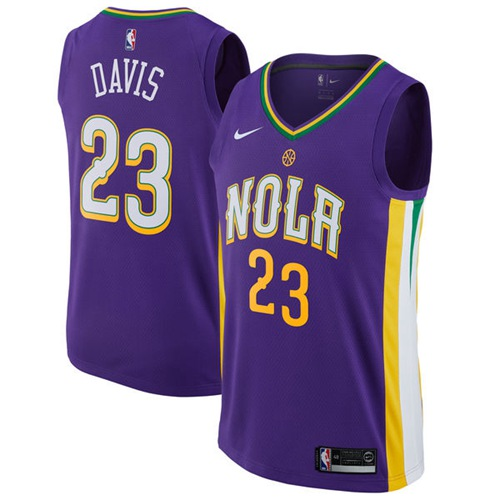 7748522cf23 Nike New Orleans Pelicans #23 Anthony Davis Purple NBA Swingman City  Edition Jersey
