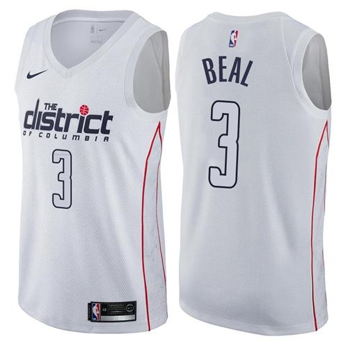 Nike Washington Wizards  3 Bradley Beal White NBA Swingman City Edition  Jersey 6466771da