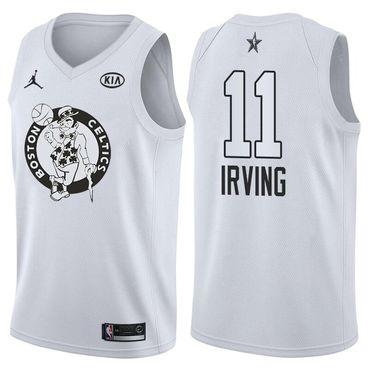 5a51ce33b41 Celtics 11 Kyrie Irving Jordan Brand White 2018 All-Star Game Swingman  Jersey
