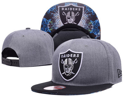 NFL Oakland Raiders Team Logo Snapback Adjustable Hat 11