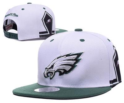 NFL Philadelphia Eagles Fresh Logo White Adjustable Hat 11