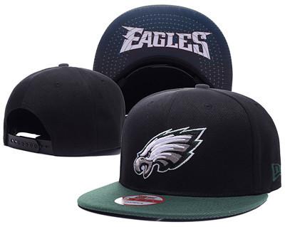 NFL Philadelphia Eagles Fresh Logo Black Adjustable Hat