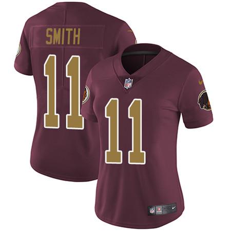Women's Nike Washington Redskins #11 Alex Smith Burgundy Red Alternate Stitched NFL Vapor Untouchable Limited Jersey
