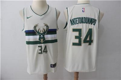 67d764ff930 Nike Bucks #34 Giannis Antetokounmpo Cream City Edition Swingman Jersey