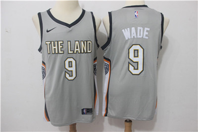 9d03dace Nike Cavaliers #9 Dwyane Wade Gray Nike City Edition Swingman Jersey