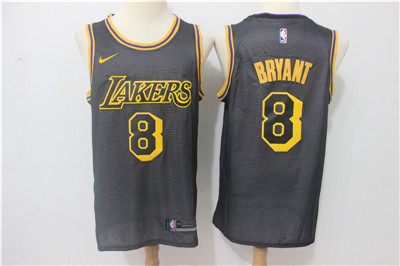 Nike Lakers #8 Kobe Bryant Black City Edition Swingman Jersey