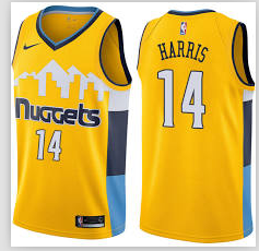 Nike Denver Nuggets  #14 Gary Harris Yellow NBA Swingman Statement Edition Jersey