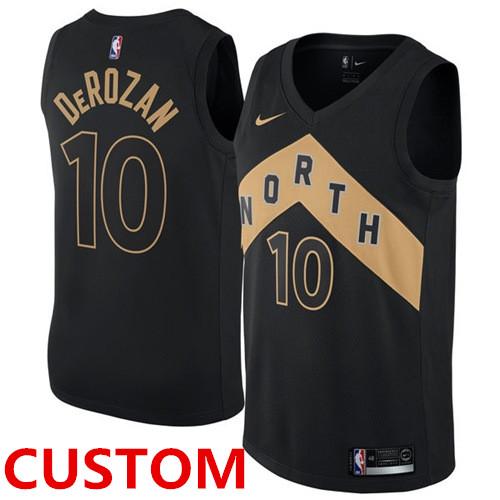 Custom Nike Toronto Raptors Black NBA Swingman City Edition Jersey