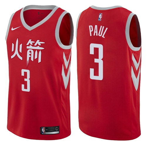 Nike Houston Rockets #3 Chris Paul Red NBA Swingman City Edition Jersey