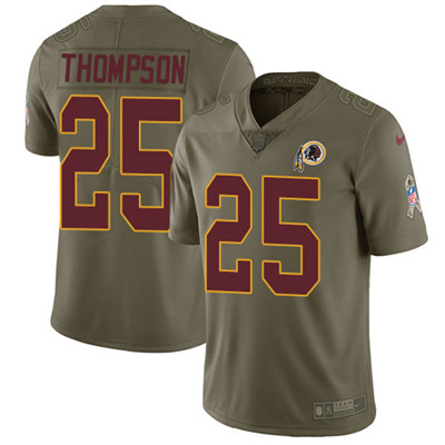 Nike Washington Redskins #25 Chris Thompson Olive Stitched NFL Limited 2017 Salute to Service Jersey