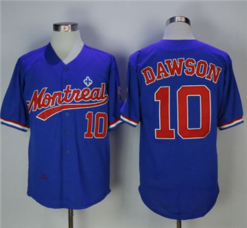 mitchell and ness bp expos 10 andre dawson blue throwback stitched mlb jersey