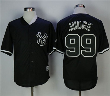 New York Yankees #99 Aaron Judge Black Fashion Stitched MLB Jersey