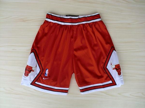 Chicago Bulls Red Nike Mesh NBA Shorts
