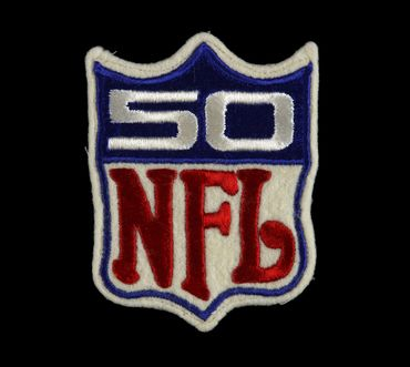 NFL 50th Anniversary patch