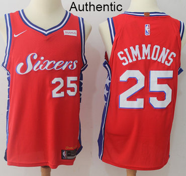 Nike Philadelphia 76ers  25 Ben Simmons Red Statement Edition NBA Swingman  Jersey NBA Authentic Jersey 4daa02406