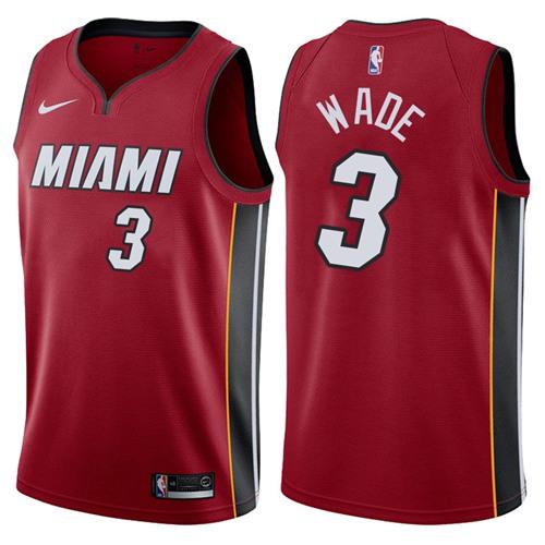 Nike Miami Heat #3 Dwyane Wade Red NBA Swingman Statement Edition Jersey
