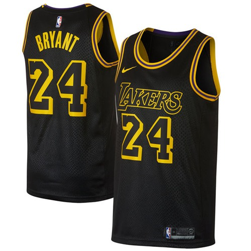 Nike Los Angeles Lakers #24 Kobe Bryant Black NBA Swingman City Edition Jersey