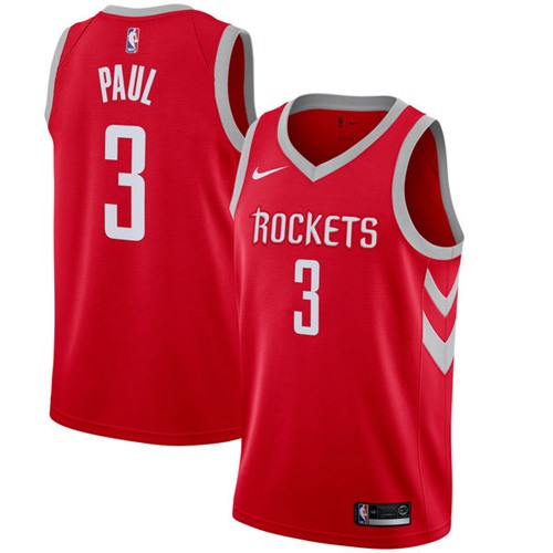 Nike Houston Rockets #3 Chris Paul Red NBA Swingman Icon Edition Jersey