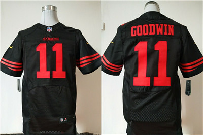 Nike San Francisco 49ers #11 Marquise Goodwin Black Alternate Men's Stitched NFL Elite Jersey