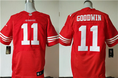 Nike San Francisco 49ers #11 Marquise Goodwin Red Team Color Men's Stitched NFL Elite Jersey