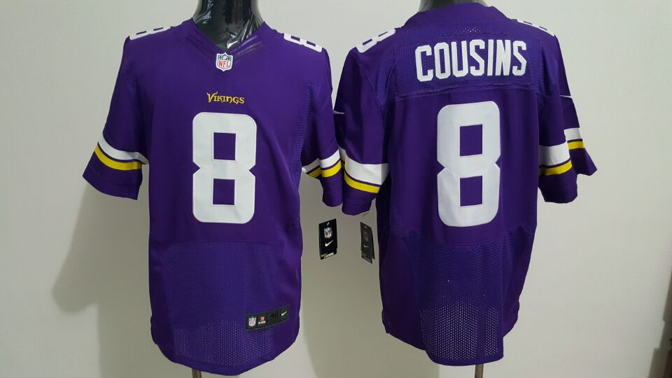 pretty nice ee688 1a277 Nike Minnesota Vikings #8 Kirk Cousins Purple Team Color ...