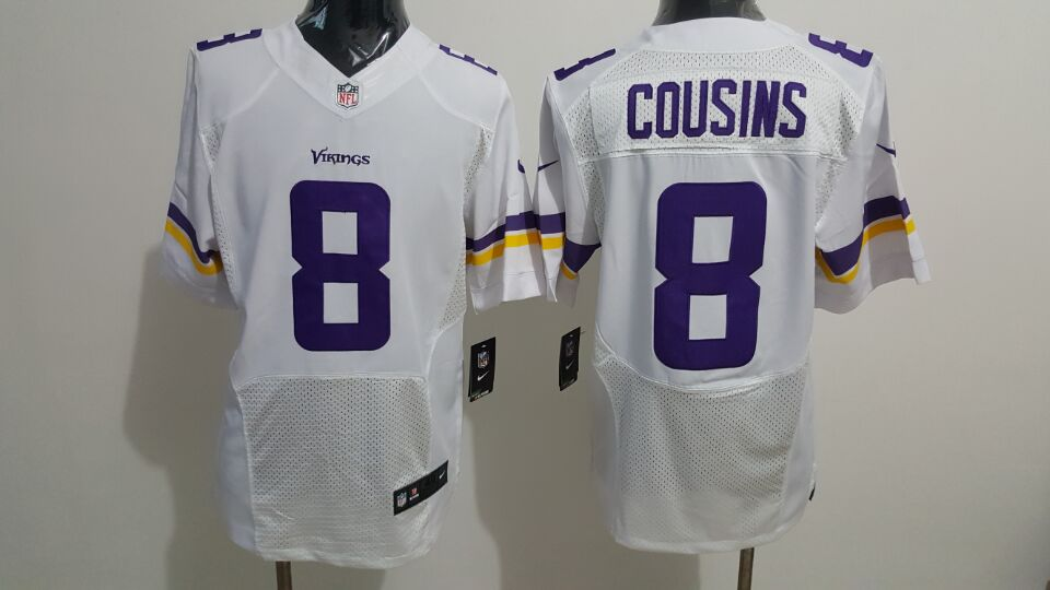 Nike Minnesota Vikings #8 Kirk Cousins White Men's Stitched NFL Elite Jersey