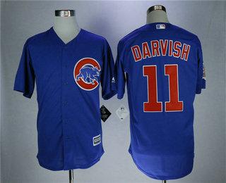Men's Chicago Cubs #11 Yu Darvish Royal Blue Stitched MLB Cool Base MLB Jersey