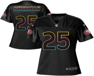 Women's San Francisco 49ers #25 Richard Sherman Pro Line Black Fashion Jersey