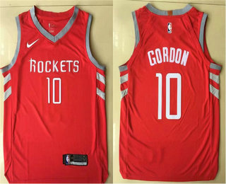 Men's Houston Rockets #10 Eric Gordon New Red 2017-2018 Nike Authentic Printed NBA Jersey
