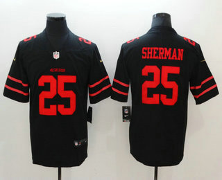 Men's San Francisco 49ers #25 Richard Sherman Black 2017 Vapor Untouchable Stitched NFL Nike Limited Jersey