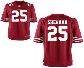 Men's San Francisco 49ers #25 Richard Sherman Elite Red Jersey